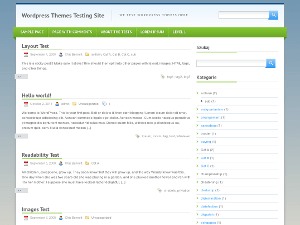 Green One free wordpress theme
