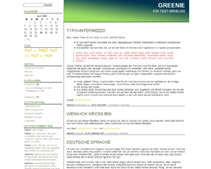 Greenie free wordpress theme