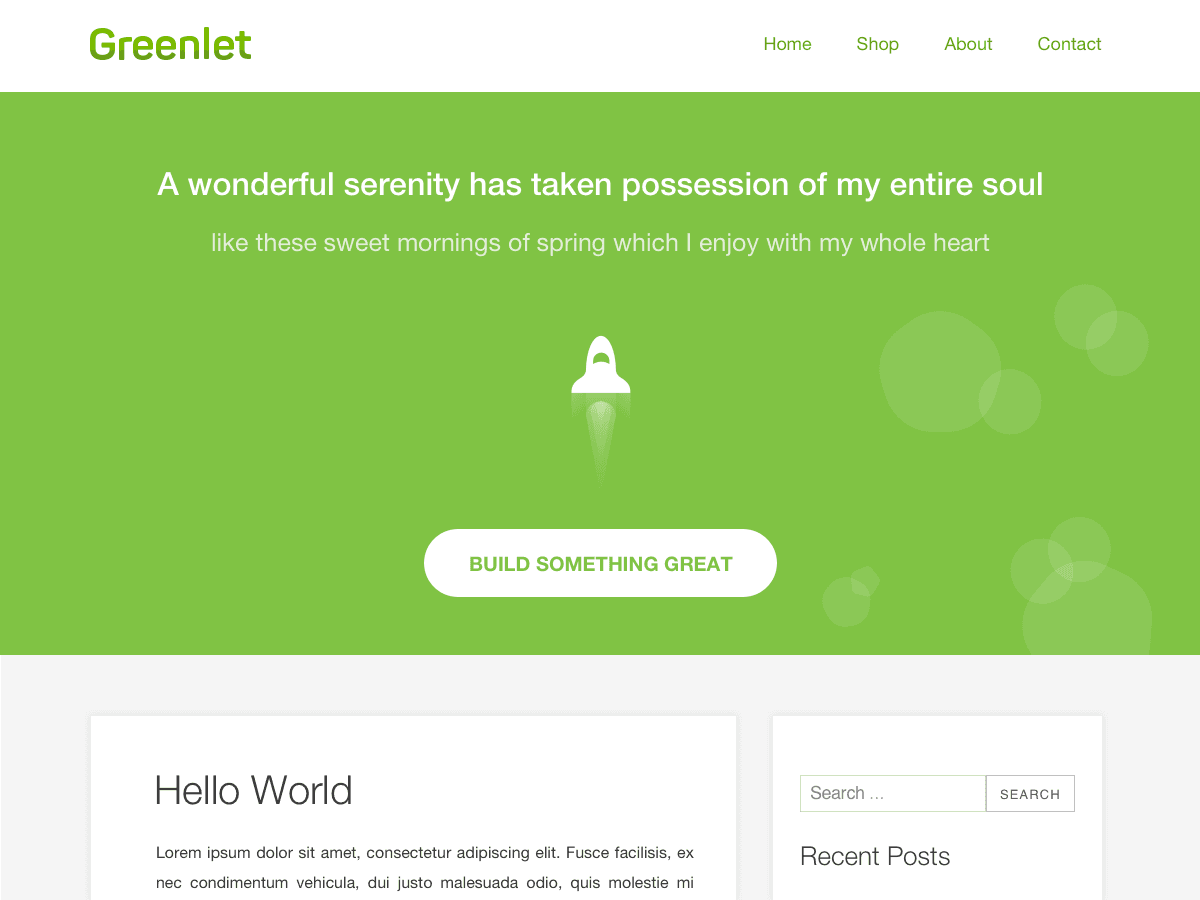 Greenlet - WordPress theme | WordPress.org