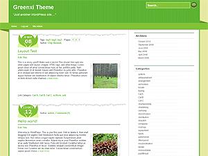 Greenxi free wordpress theme