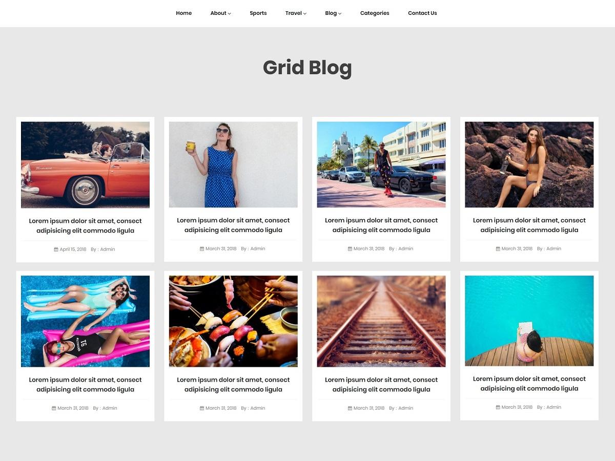 WordPress主题:Grid Blogger
