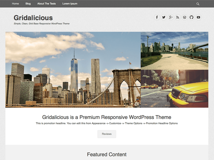 Gridalicious free wordpress theme