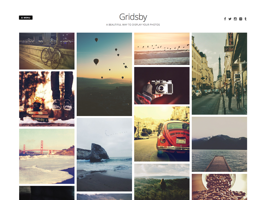 Gridsby - A WordPress theme