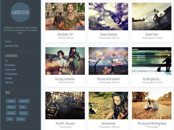 Gridster-Lite free wordpress theme
