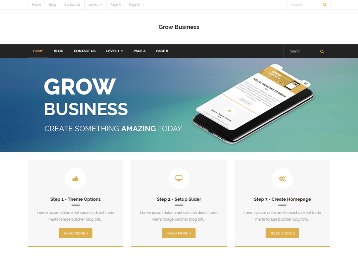 Grow Business Theme Free Download