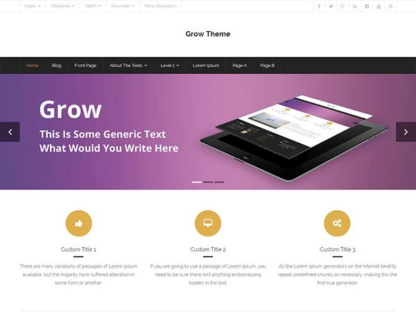 Best premium wordPress theme for bloggers - Grow WordPress theme