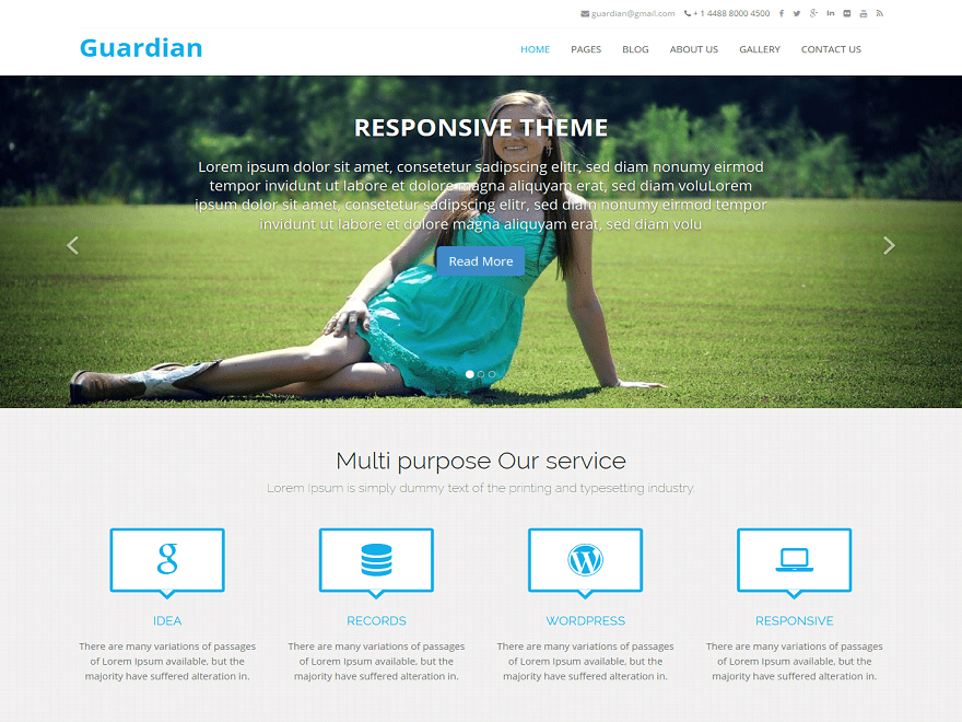 Guardian free wordpress theme