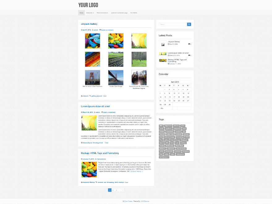 Gule free wordpress theme