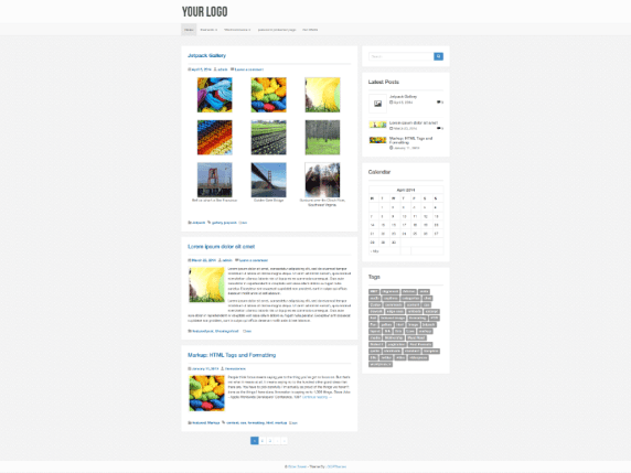 Gule wordpress theme
