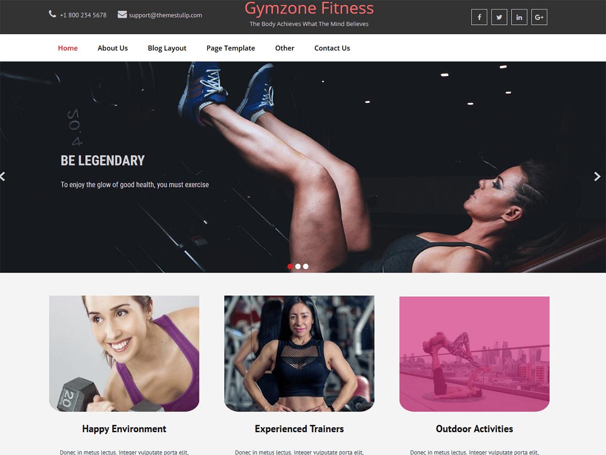 Gymzone Fitness - WordPress theme | WordPress.org Bahasa Melayu