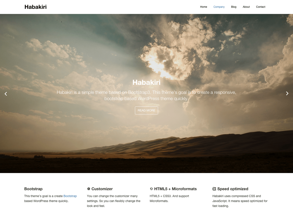 habakiri free wordpress theme