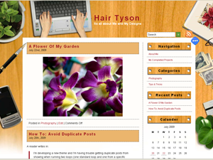 Hair Tyson free wordpress theme
