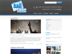 Halftone free wordpress theme
