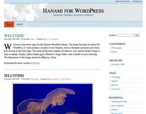 Hanami free wordpress theme