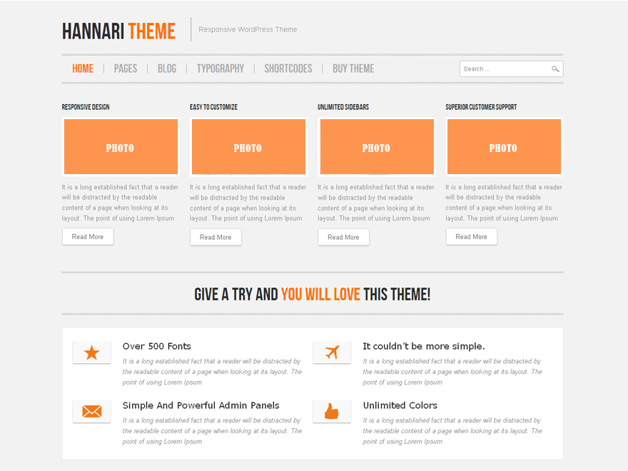 Hannari free wordpress theme