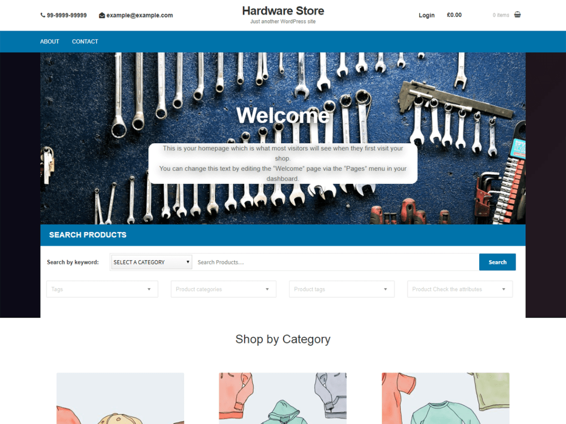 Hardware Store Theme Free Download