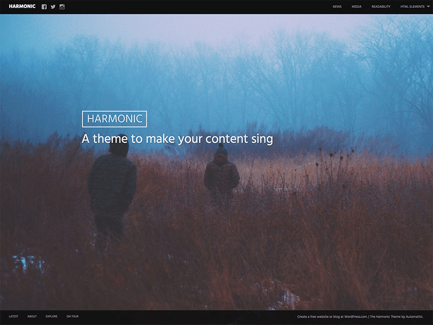 Harmonic free wordpress theme