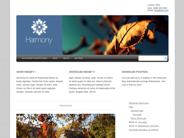 Harmony 2.0 free wordpress theme