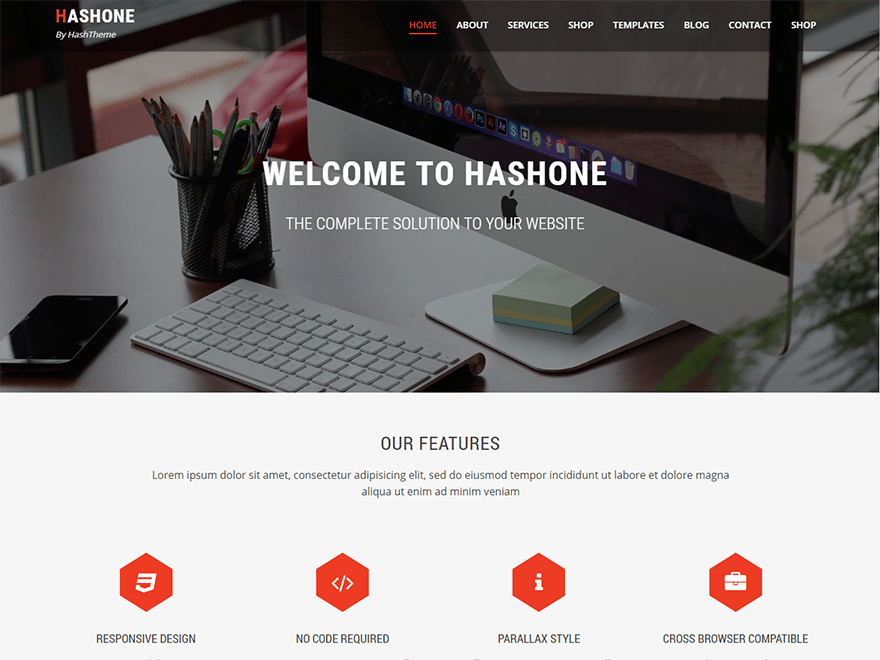 HashOne child theme