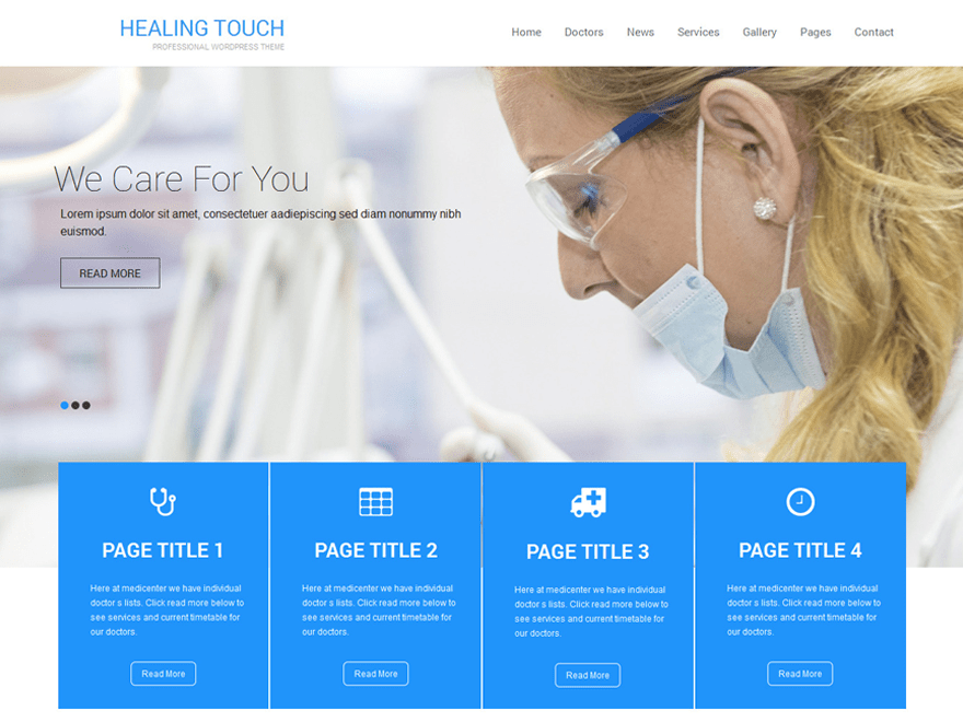 screenshot of Healing Touch free WooCommerce theme
