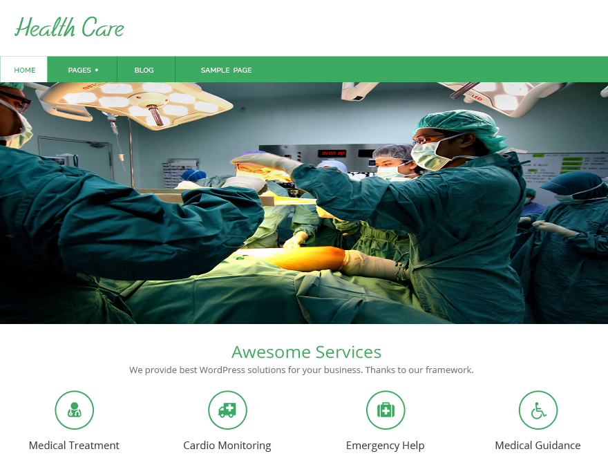 Health care free wordpress theme