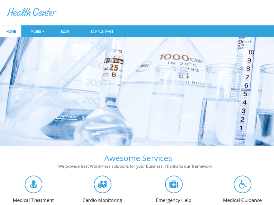 Health-Center-Lite free wordpress theme