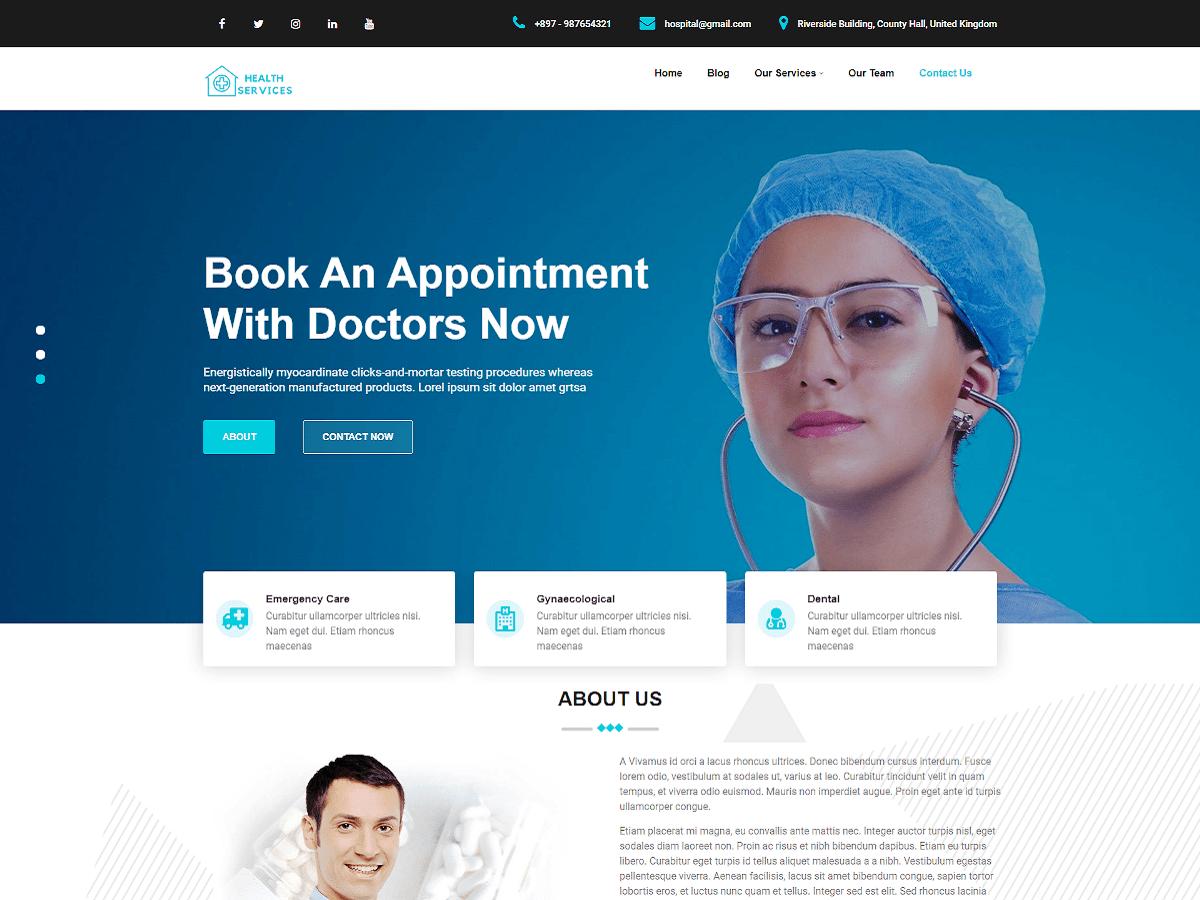 WordPress主题:Health Service
