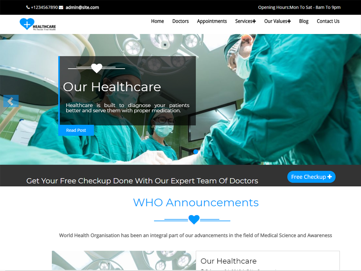 Healthcare is a fully dynamic, well structured and beautiful wordpress theme which is specifically designed for hospitals, health clinics, dentists and ...