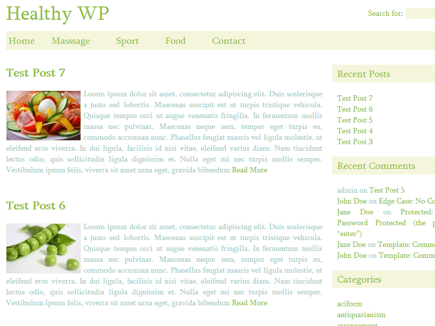 Healthy WP theme wordpress gratuit