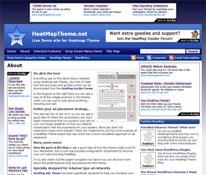 HeatMap Adsense Theme wordpress theme