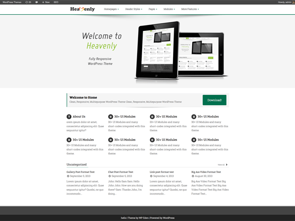 Heavenly theme wordpress gratuit