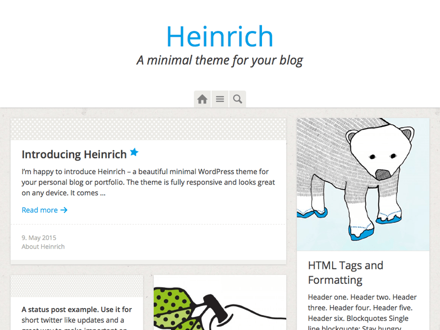 Heinrich free wordpress theme