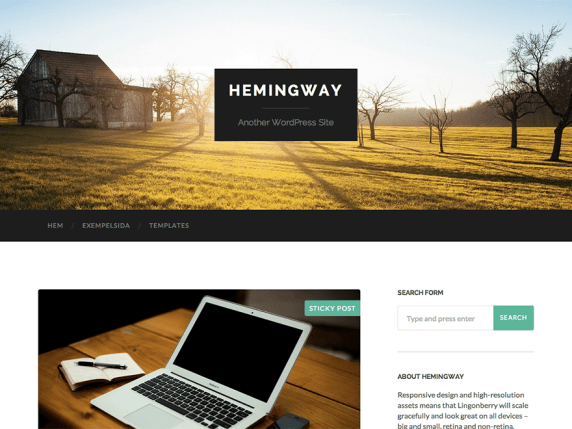 Wordpress Hemingway