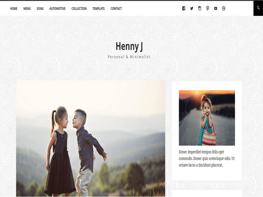Hennyj free wordpress theme