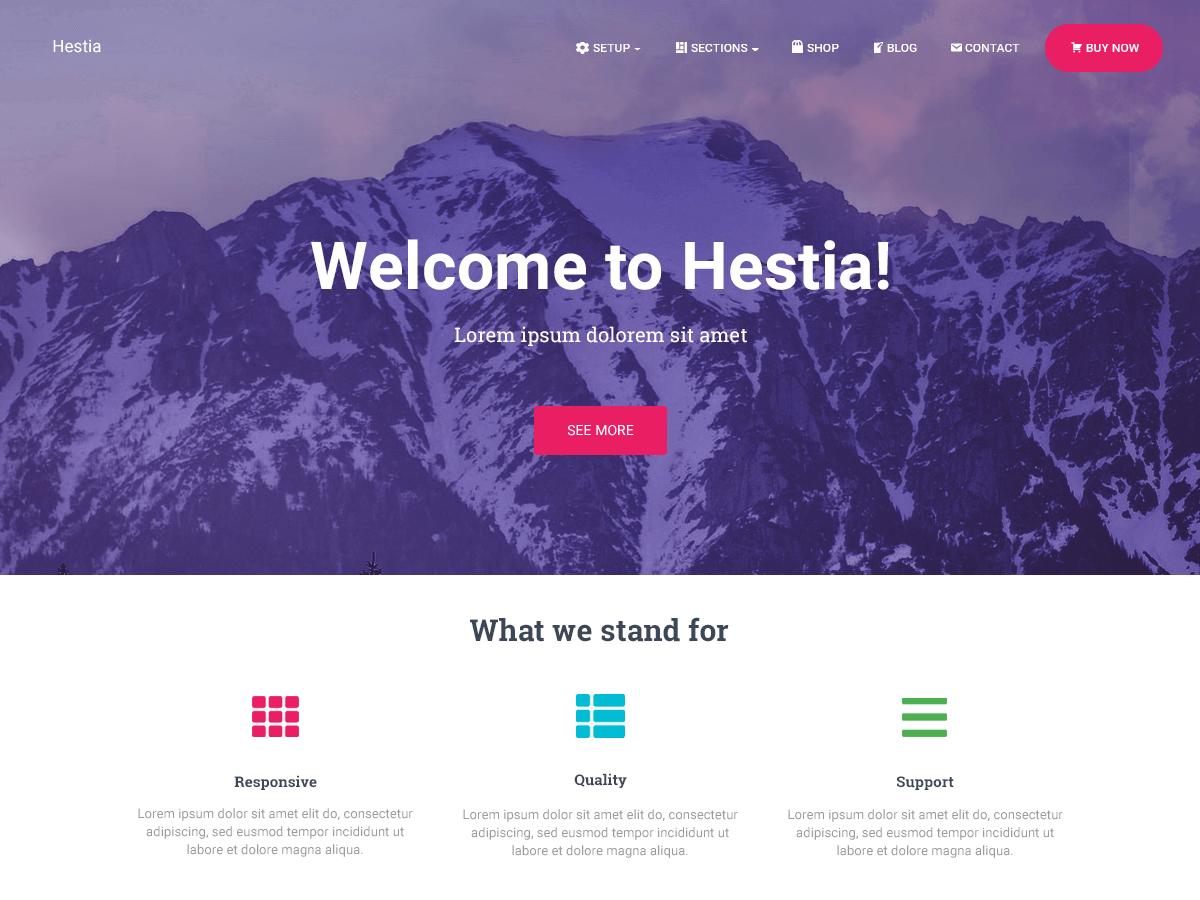 Hestia wordpress theme free download