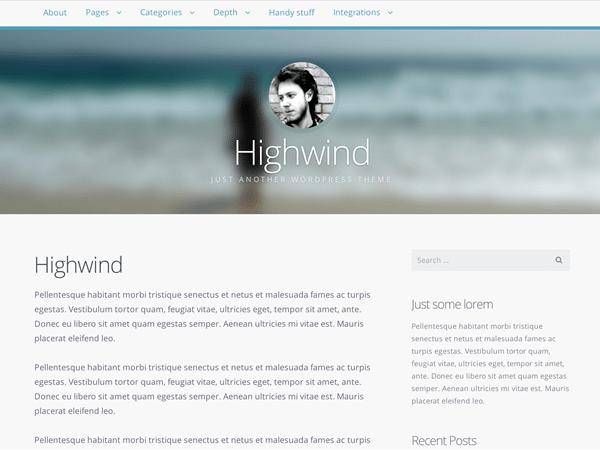 Highwind free wordpress theme