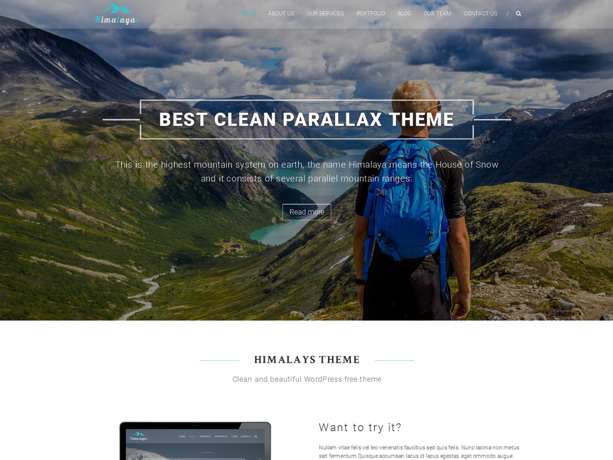 Himalayas free wordpress theme