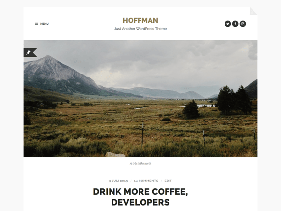 Hoffman wordpress theme