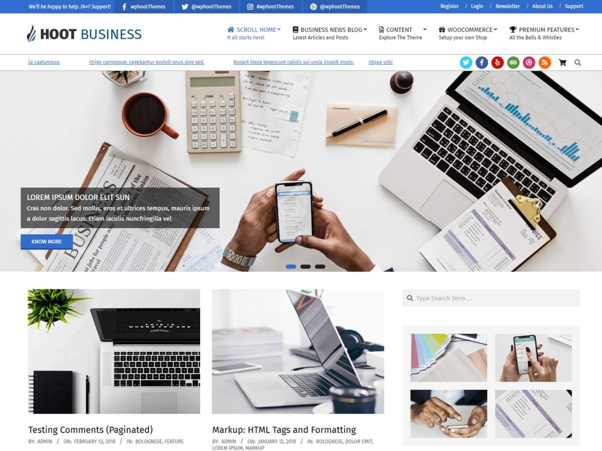 Leren Bank Overspuiten.Hoot Business Wordpress Theme Wordpress Org