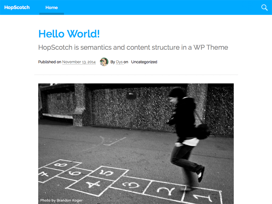 HopScotch free wordpress theme