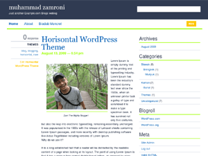 Horisontal free wordpress theme