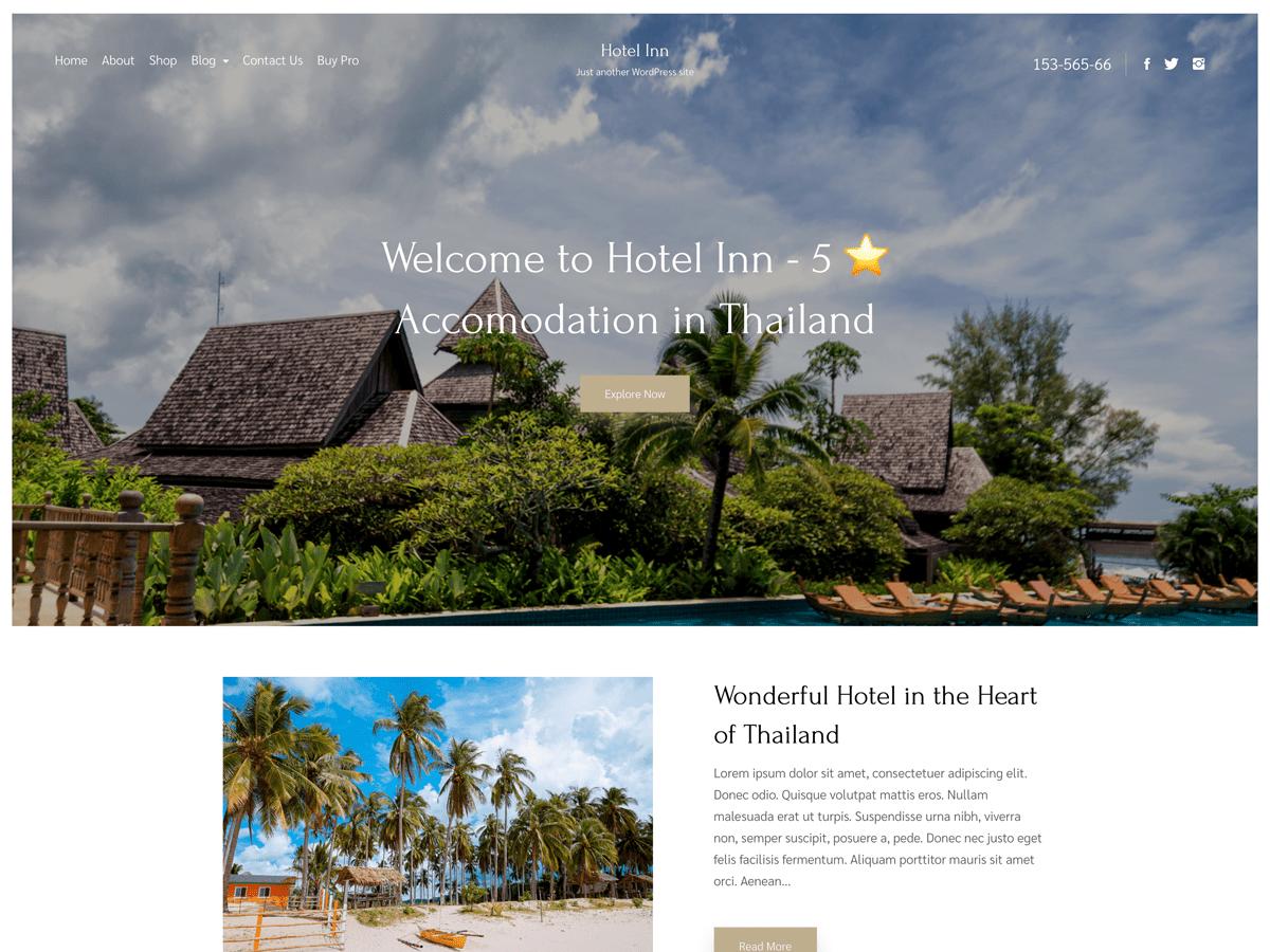 WordPress主题:Hotel Inn