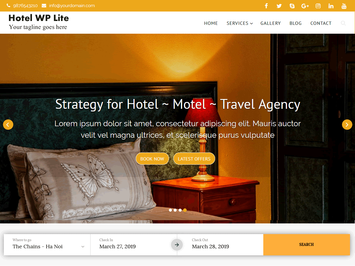 WordPress主题:Hotel WP Lite