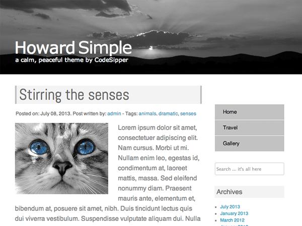 Howard Simple free wordpress theme