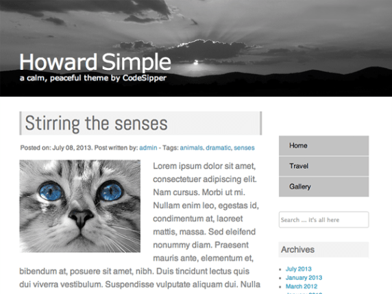 Howard Simple wordpress theme