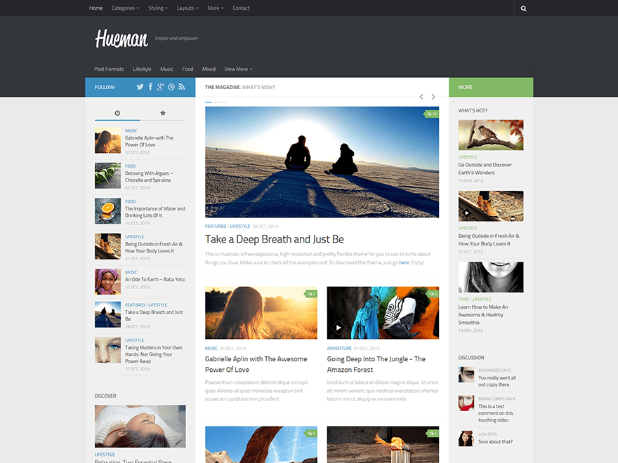 Hueman free wordpress theme