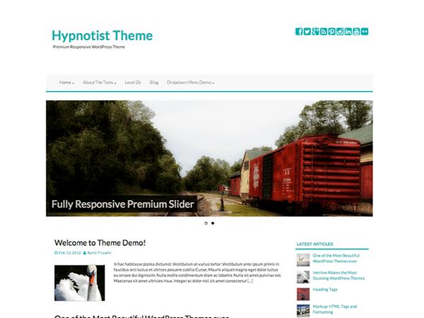 Hypnotist free wordpress theme