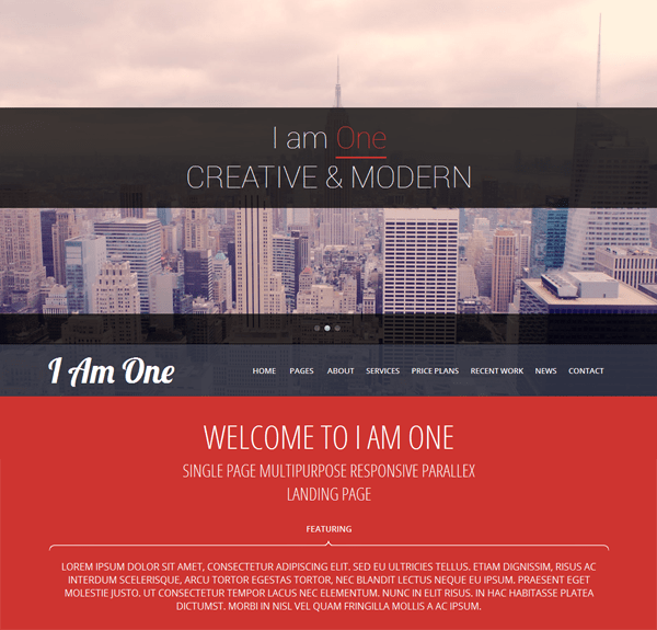 I Am One free wordpress theme