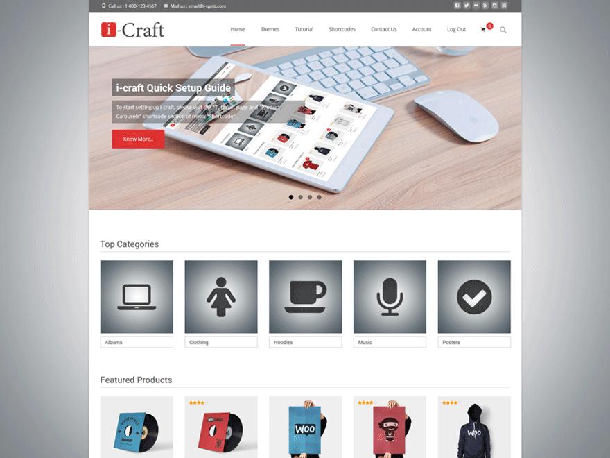 i-craft free wordpress theme
