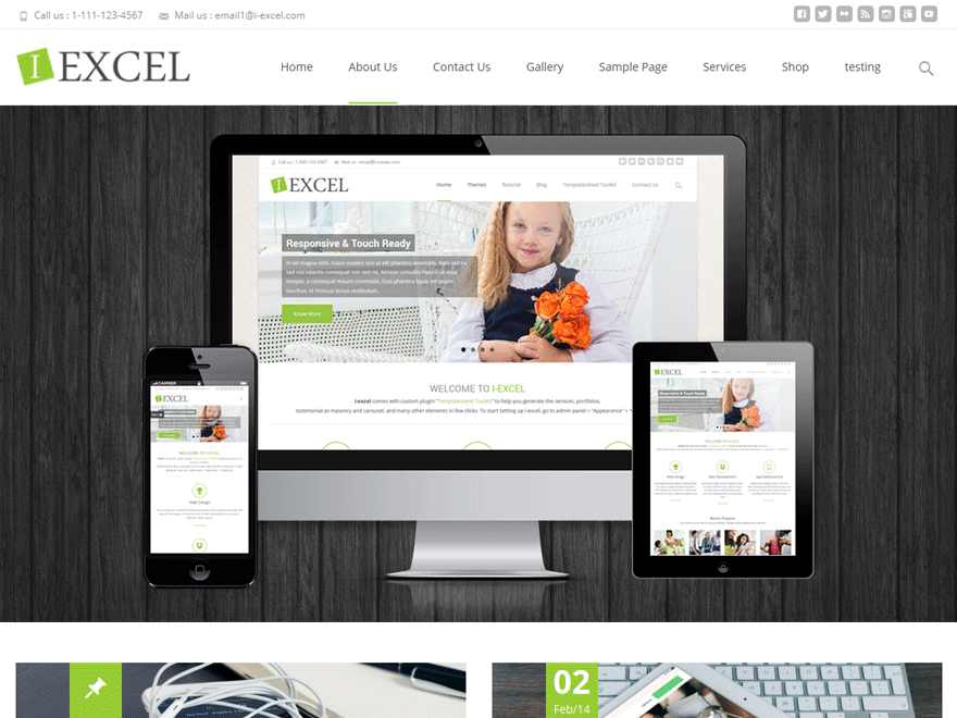 i-excel free wordpress theme